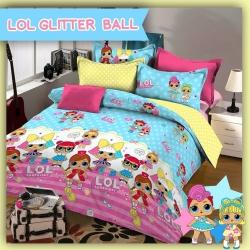 Sprei STAR LOL Glitter Ball Biru