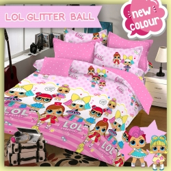Sprei STAR LOL Glitter Ball Pink