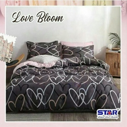 Sprei STAR Love Bloom Coklat