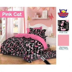 Sprei Star pink-cat-oniq