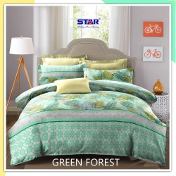 sprei-star-green-forest-hijau