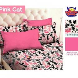 Sprei Star pink-cat-pink