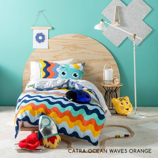 Sprei CATRA Ocean Waves Orange